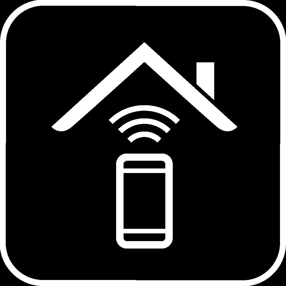 Pictogramme maison connectée
